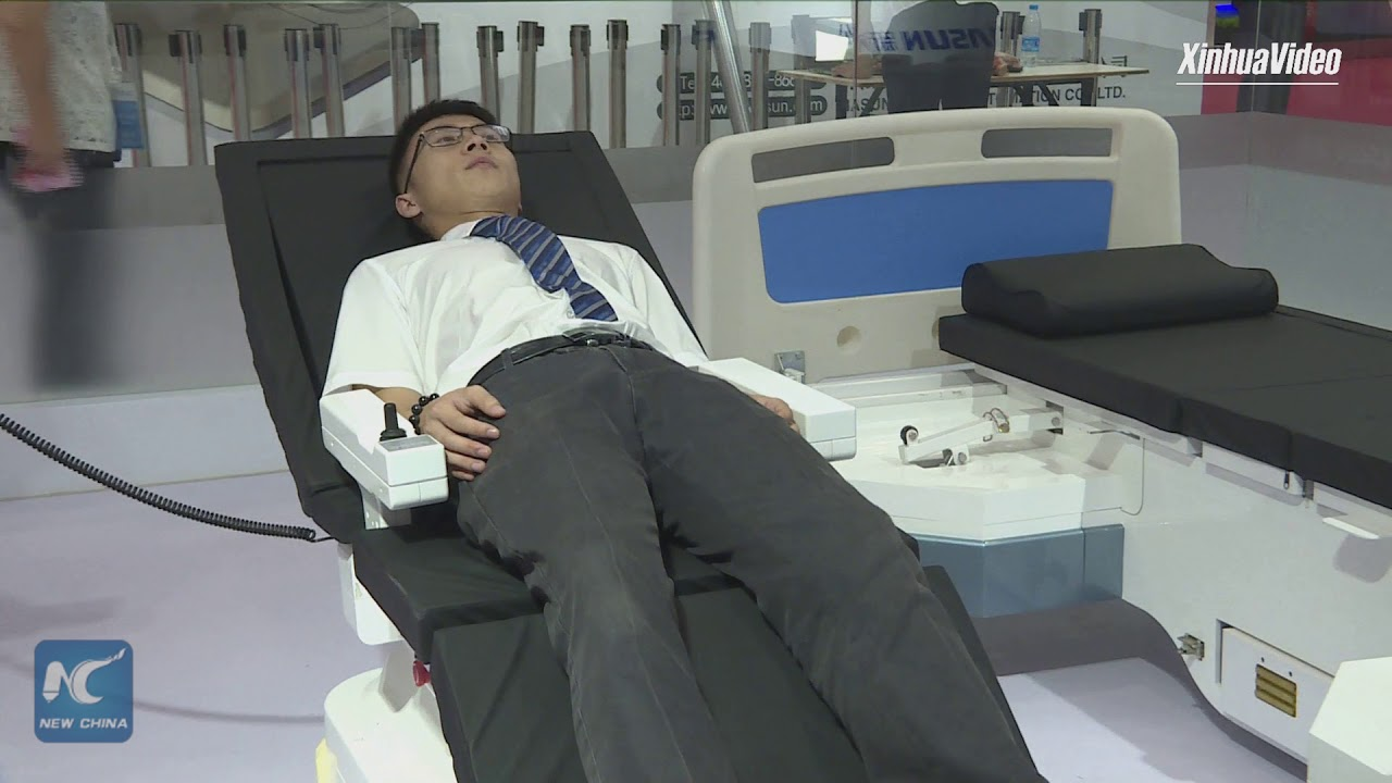 robotic bed converts into wheelchair with press of a button - youtube