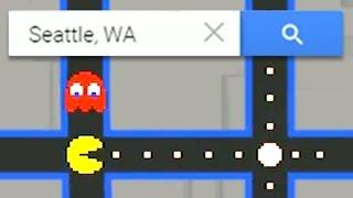 Google Maps Pacman! Free HD Video