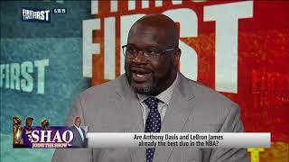 Shaq disagrees LeBron   AD are the best duo, talks state of the Lakers   NBA   FIRST THINGS FIRST