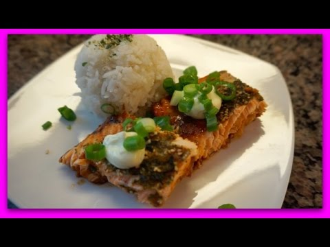 Furikake Salmon with Wasabi Mayo Recipe