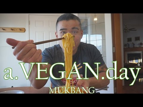 1 VEGAN DAY | MUKBANG | QT