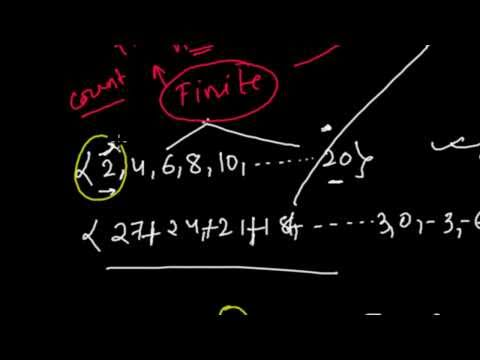 Finite Sequence and Infinite Sequence - Types of Sequences & Series