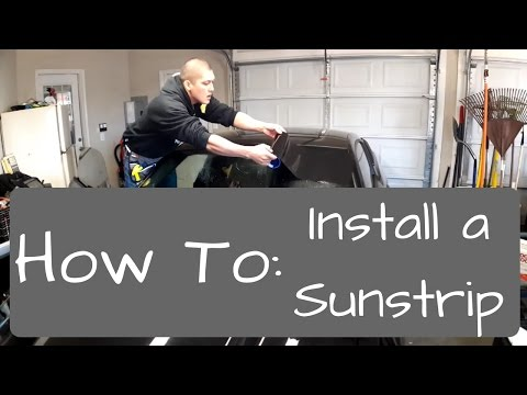 Window Tinting: How to install a sunstrip