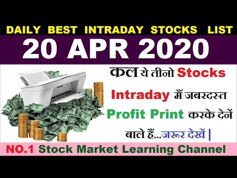 Best intraday trading stocks for 20 APR 2020 | Intraday trading strategies|Intraday trading tips|