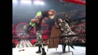 Dudley Boyz 3-D on Christian through a table
