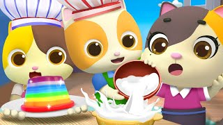 Rainbow Jelly Song  | Popcorn, Ice Cream, Donuts | Nursery Rhymes | Kids Songs | for Kids | BabyBus