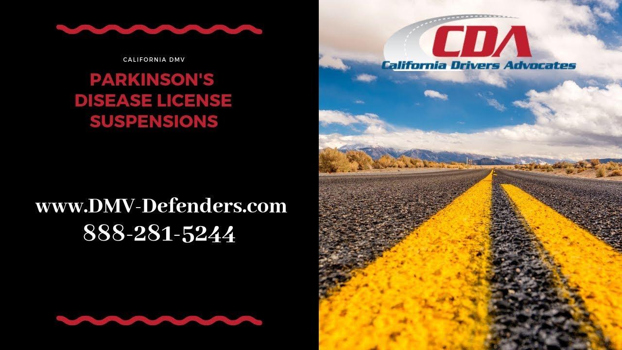 California Driver License Suspension for Parkinson's Disease