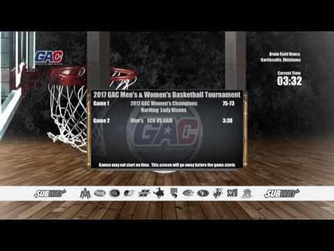2017 GAC Men's Basketball Championship Final - East Central vs Arkansas-Monticello