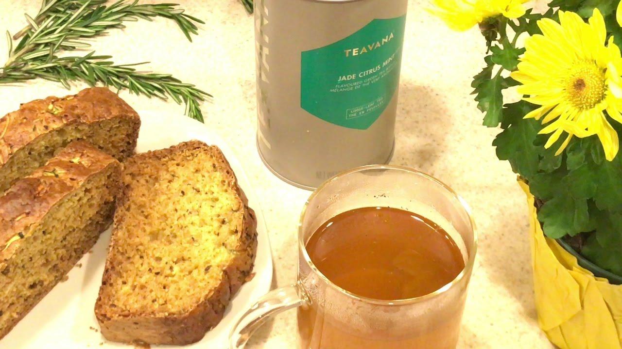Rosemary Lemon Zucchini Bread with Teavana's tea Jade ...