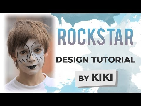 Rock Star Face Painting Tutorial
