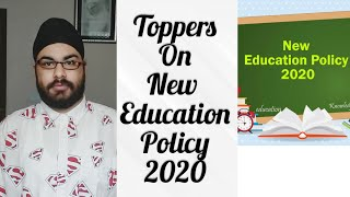 School Topper React to New Education Policy 2020   Jasmeet Singh Bhatia   School comedy