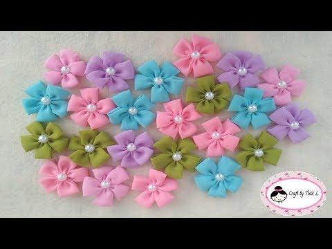 DIY Tutorial || Cara Membuat Bunga dari Kain Sifon || How to make Chiffon flower