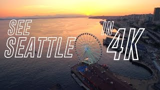 An Aerial Tour of Seattle in 4K