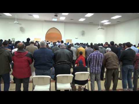 Imam Shafi leading Jumua Salah at ICNM,USA Dec 13th 013