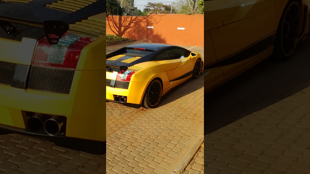 Sandile Shezi arrives in a Lamborghini - YouTube