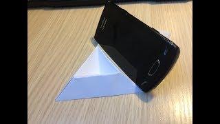 Как сделать подставку для телефона из бумаги оригами своими руками