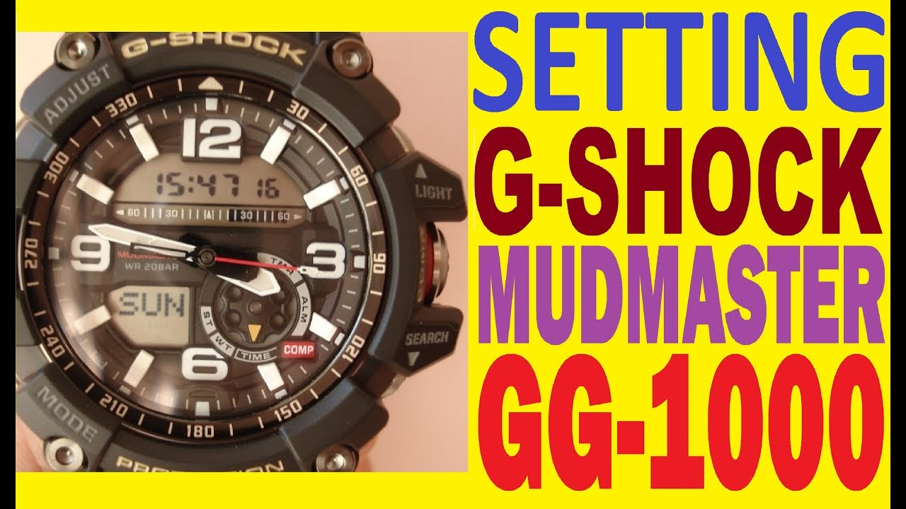 Casio G Shock Gg 1000 1a Setting Mudmaster Manual For Use Youtube