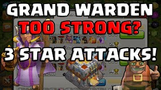 Clash of Clans | GRAND WARDEN TOO STRONG? 3 STAR ATTACKS | JORGE YAO