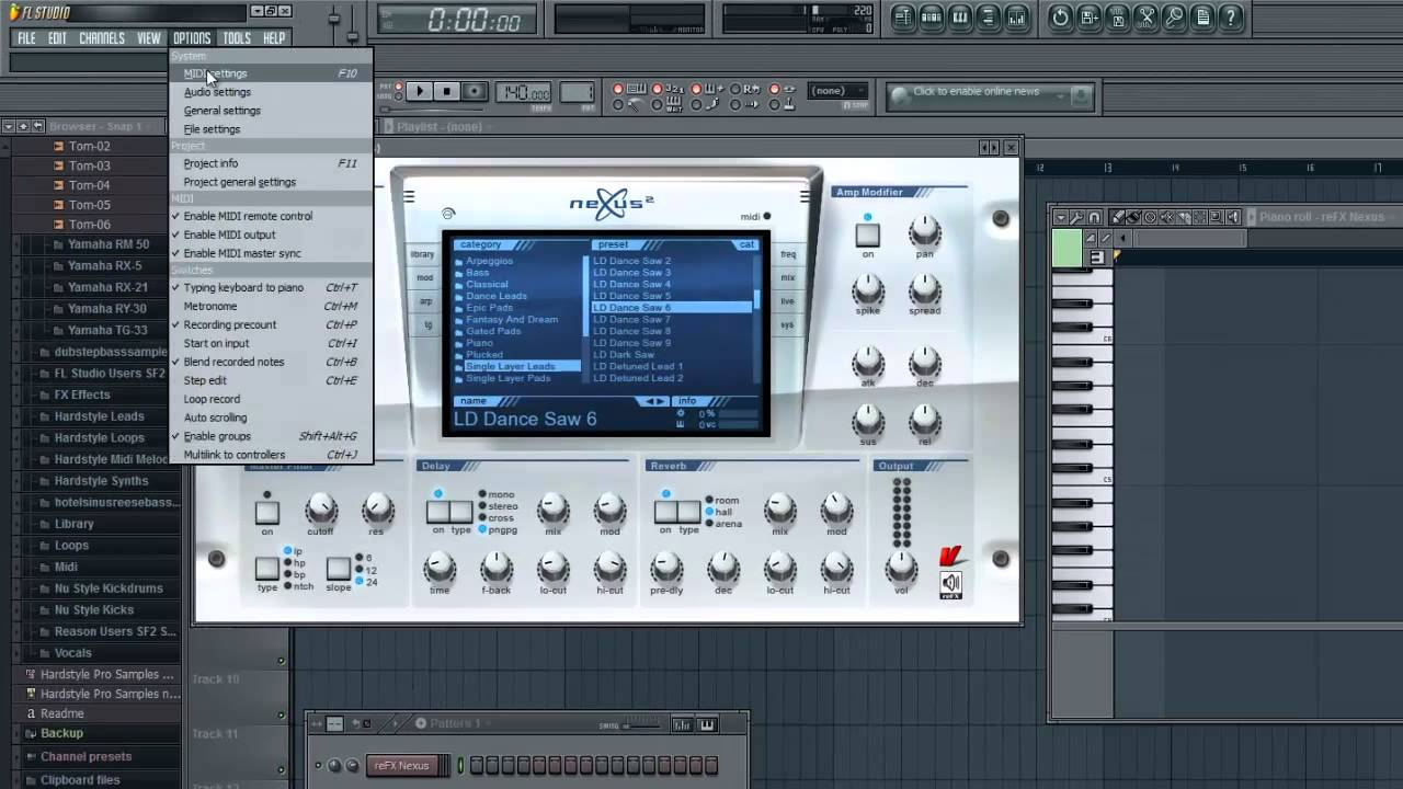 Hook up keyboard to fl studio