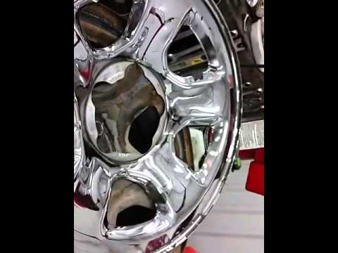 How to remove chrome skins from your wheels / rims. - YouTube