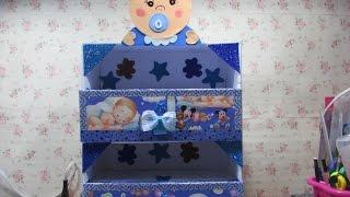 diy zapatera de carton para bebe cardboard organizer for baby