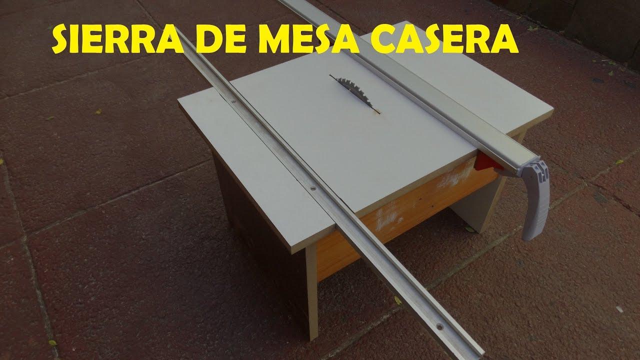 Sierra de mesa casera con guia escuadradora y guia para for Sierras de mesa
