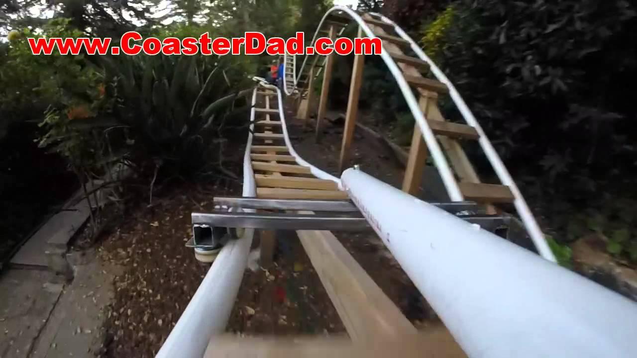 backyard roller coaster steel wheel assembly test 3 youtube