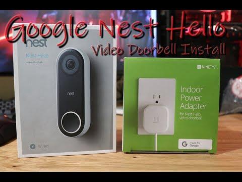 Google Nest Hello Video Doorbell Install Smart Home Series 1 Youtube