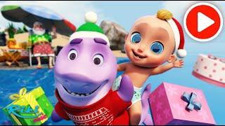 С новым годом! Санта шарк - песни и танцы с Беби Шарк! NEW!
