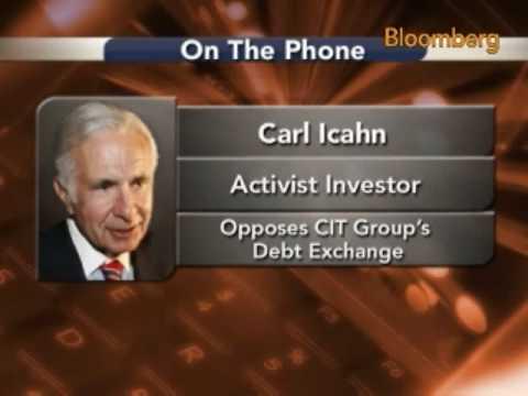 Icahn Says He's `Very Nervous' About CIT Debt Exchange: Video