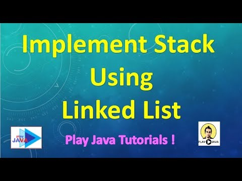 Implement Stack using Linkedlist in Java