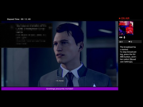 KingOfAngelsX's Live PS4 Broadcast of Detroit Become Human DEMO!!