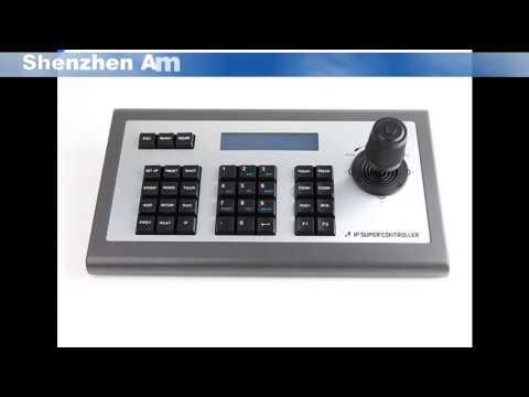 4D Joystick PTZ IP Keyboard Controller,CCTV Keyboard IP Controller