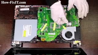 How to Wi-Fi card replacement on Asus X552 laptop