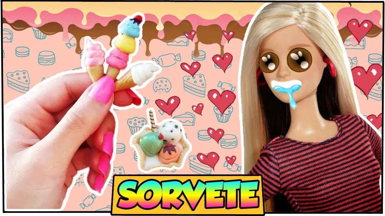 Como Fazer: Sorvete Realista Para Bonecas Barbie, Monster