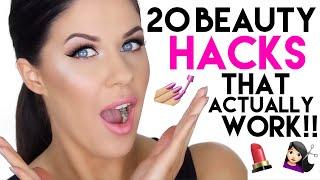 20 BEAUTY HACKS THATS ACTUALLY WORK!! NO BS!! MAKEUP, SKIN, HAIR GROWTH + NAILS!!
