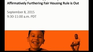 a pivotal step toward opportunity the affirmatively furthering fair housing rule