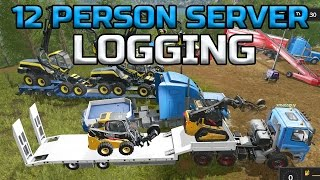FARMING SIMULATOR 2017 | LOGGING | GIANT MULTIPLAYER SERVER