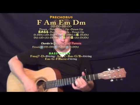 New Americana (Halsey) Guitar Lesson Chord Chart- Capo 3rd Fret