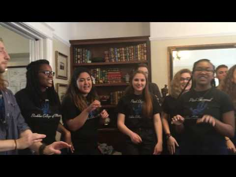 """Berklee Pitch Slapped singing the *&^@! out of Stevie Wonder's """"I Wish"""" (in my living room) !!!"""