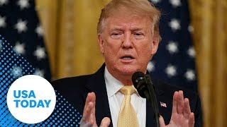 President Donald Trump speaks at Presidential Social Media Summit | USA TODAY