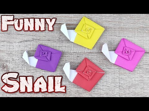 Origami Snail Animal | How To Making A Paper Snail Tutorials | DIY Paper Animals Craft Idea Toys