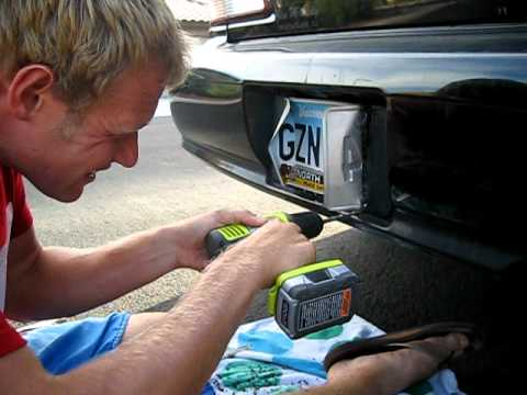 how to change licence plate