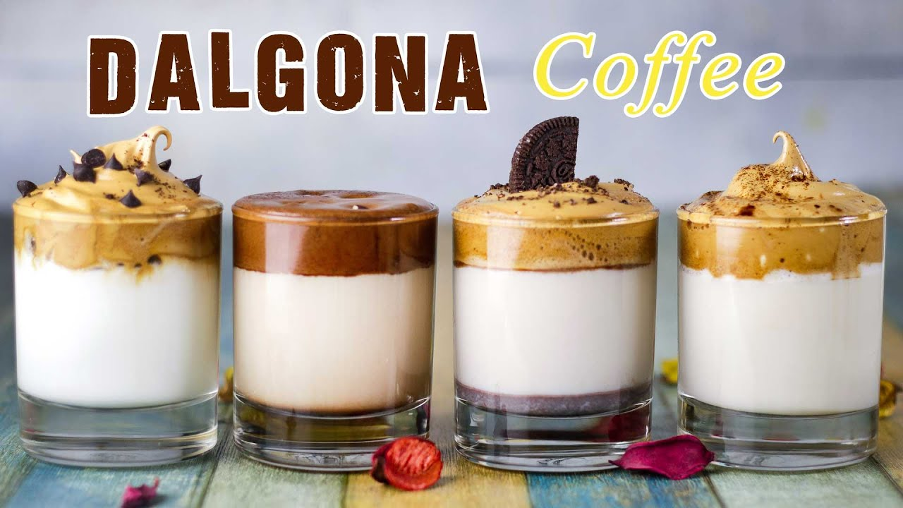 4 Types Of Dalgona Coffee Cold Coffee Part 4 Youtube