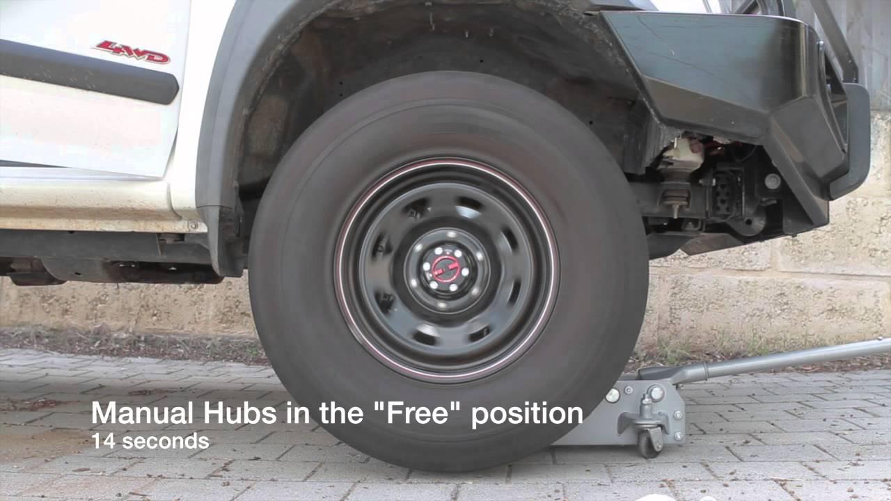 isuzu trooper manual hubs