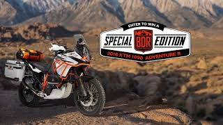 Win the Special Edition KTM 1090 Adventure R