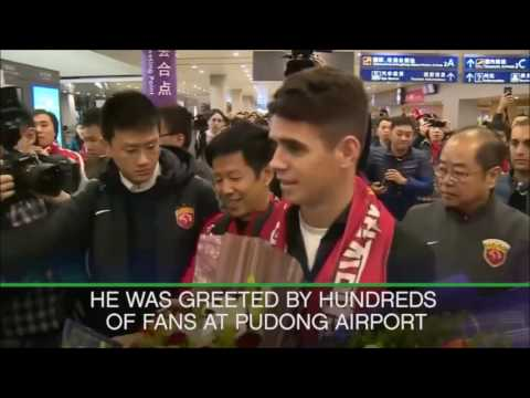 Oscar arrives in China after £60 million move to Shanghai SIPG | Sportdec
