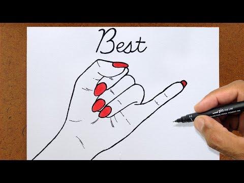 Sinal Best Friends Vamos Desenhar Manual De Um