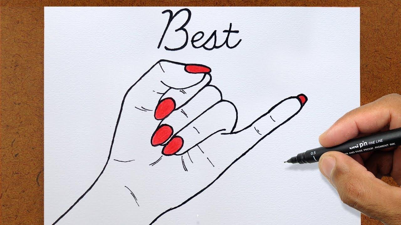 Desenhos Tumblr De Mão Estalando Como Fazer: Sinal Best Friends, VAMOS DESENHAR MANUAL DE UM DESENHISTA