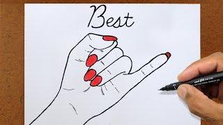 Como Desenhar Sinal BEST FRIENDS, HOW TO DRAW